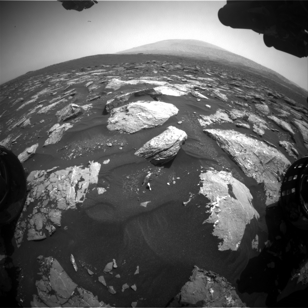 Nasa's Mars rover Curiosity acquired this image using its Front Hazard Avoidance Camera (Front Hazcam) on Sol 1549, at drive 2830, site number 59