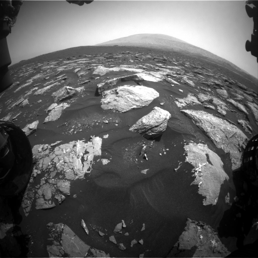 Nasa's Mars rover Curiosity acquired this image using its Front Hazard Avoidance Camera (Front Hazcam) on Sol 1551, at drive 2830, site number 59