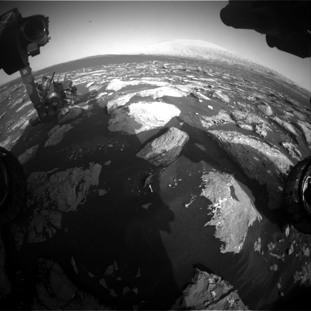 Nasa's Mars rover Curiosity acquired this image using its Front Hazard Avoidance Camera (Front Hazcam) on Sol 1552, at drive 2830, site number 59