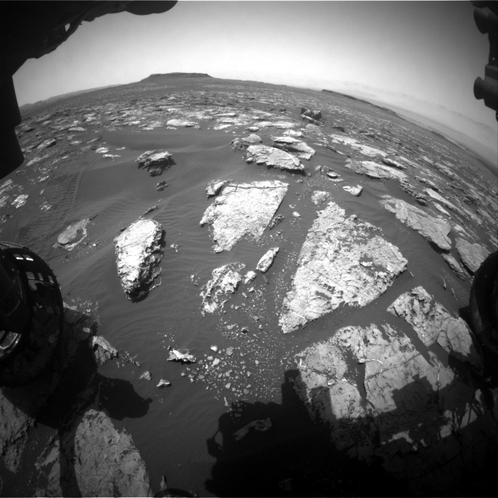 NASA's Mars rover Curiosity acquired this image using its Front Hazard Avoidance Cameras (Front Hazcams) on Sol 1553