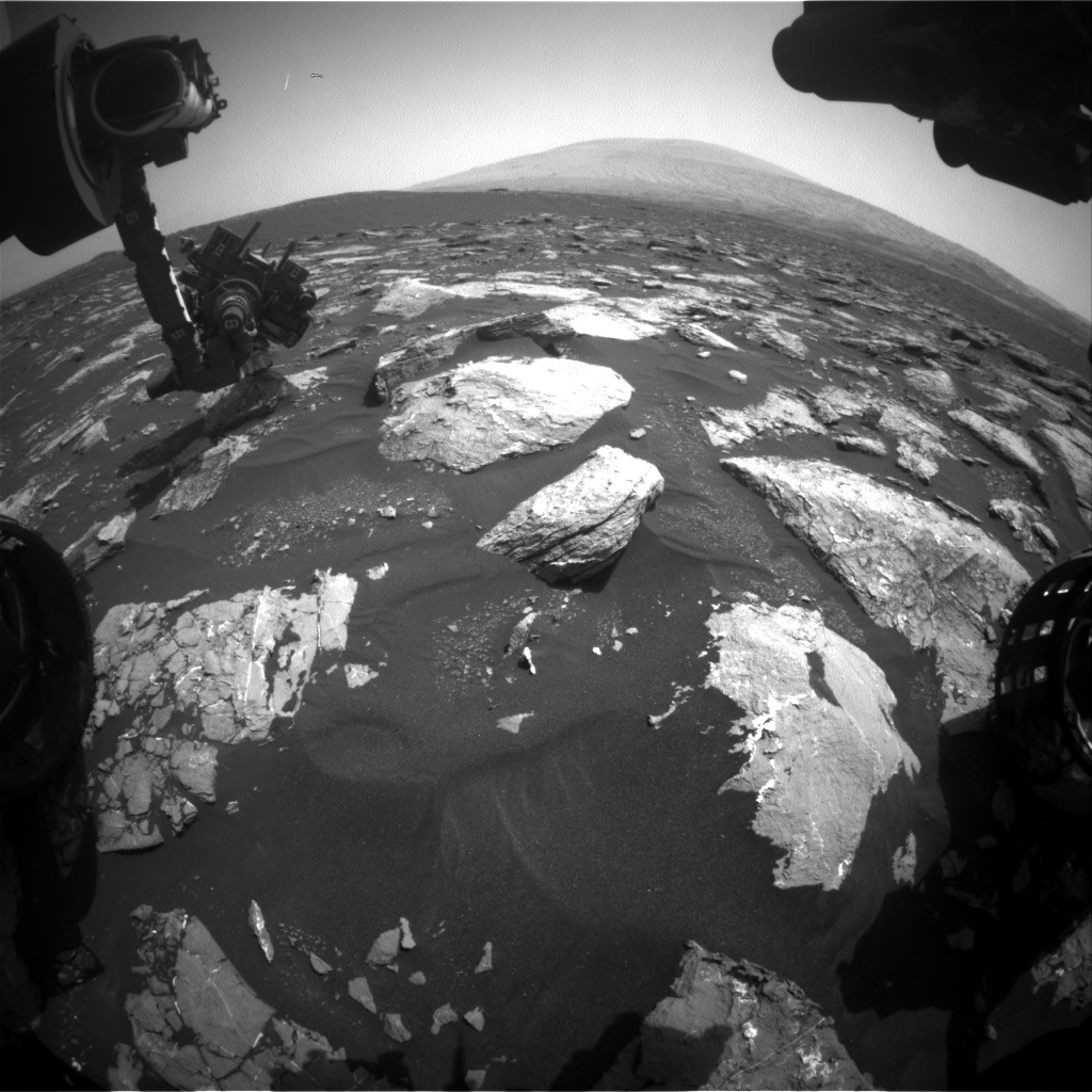 Nasa's Mars rover Curiosity acquired this image using its Front Hazard Avoidance Camera (Front Hazcam) on Sol 1553, at drive 2830, site number 59