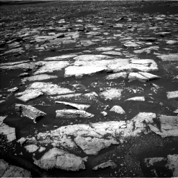 Nasa's Mars rover Curiosity acquired this image using its Left Navigation Camera on Sol 1553, at drive 2968, site number 59
