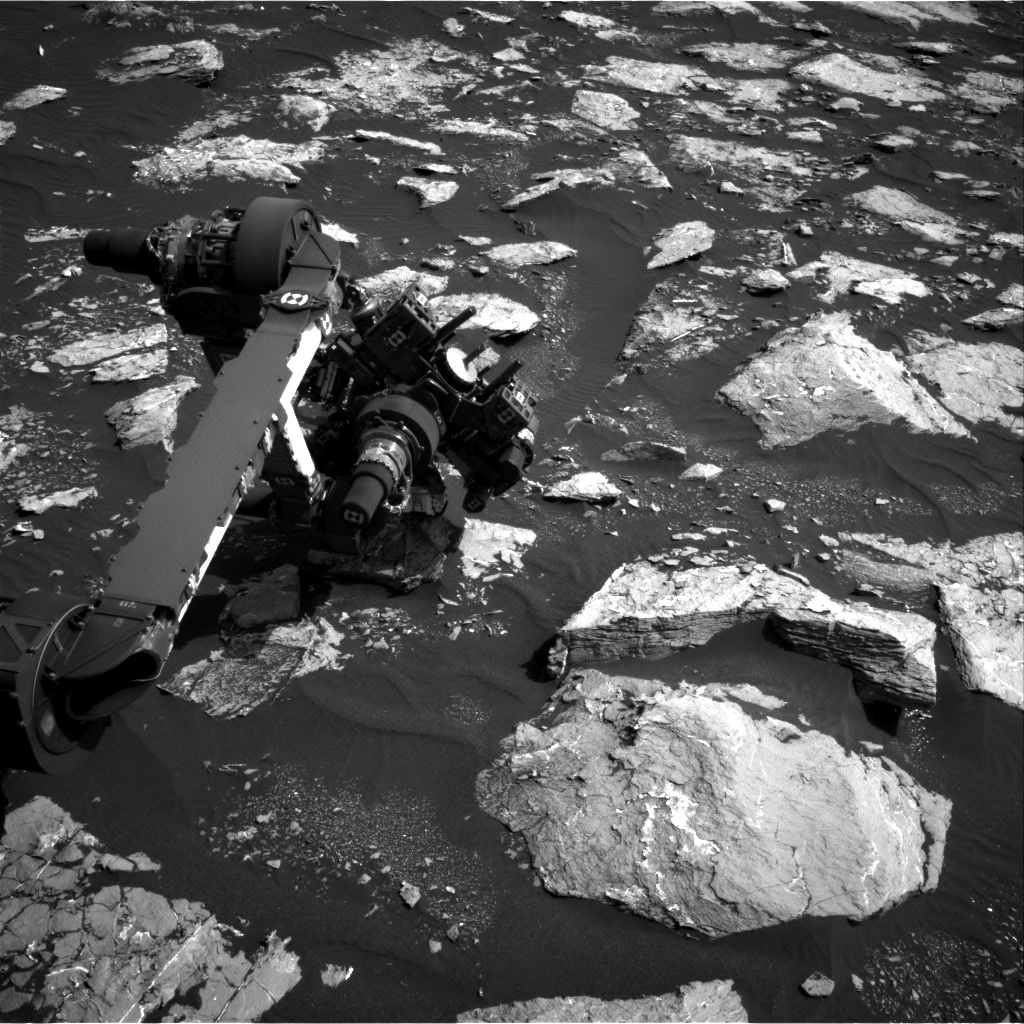 Nasa's Mars rover Curiosity acquired this image using its Right Navigation Camera on Sol 1553, at drive 2830, site number 59