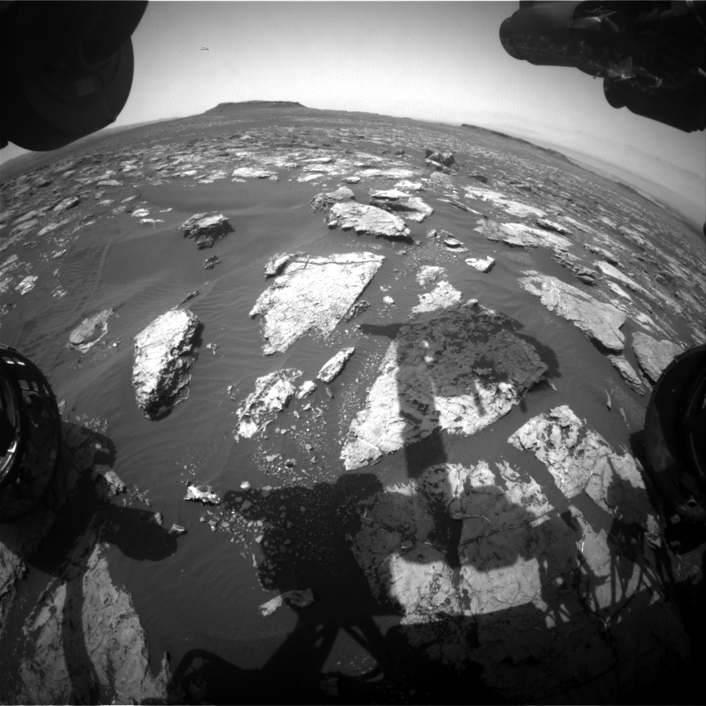 Nasa's Mars rover Curiosity acquired this image using its Front Hazard Avoidance Camera (Front Hazcam) on Sol 1554, at drive 3004, site number 59