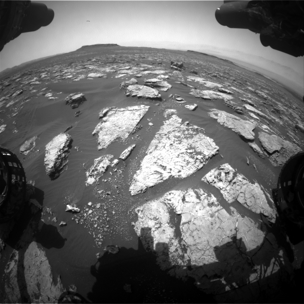 Nasa's Mars rover Curiosity acquired this image using its Front Hazard Avoidance Camera (Front Hazcam) on Sol 1557, at drive 3016, site number 59
