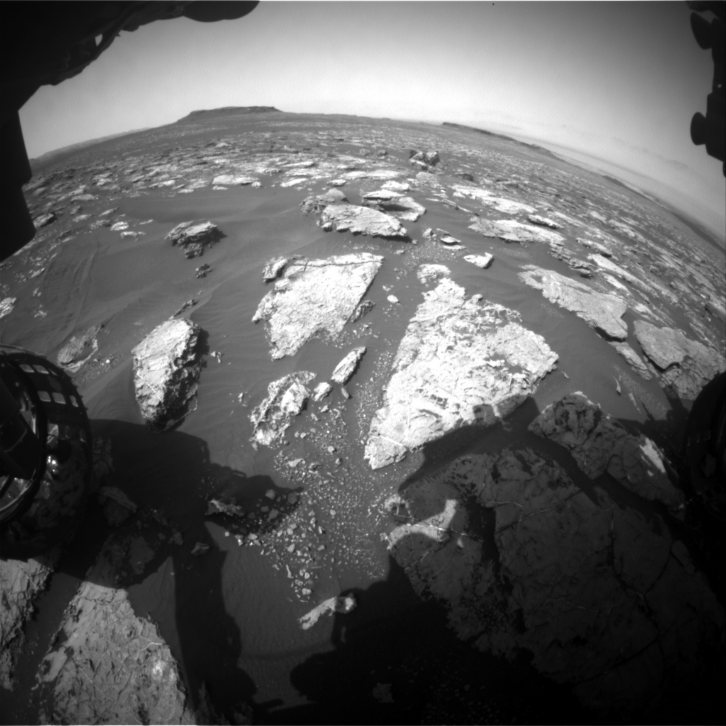 Nasa's Mars rover Curiosity acquired this image using its Front Hazard Avoidance Camera (Front Hazcam) on Sol 1558, at drive 3016, site number 59