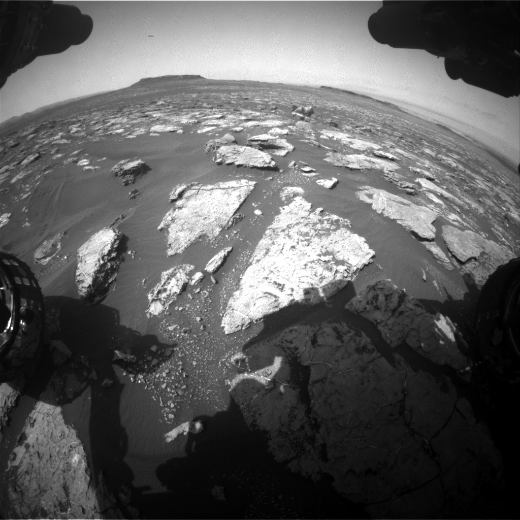 Nasa's Mars rover Curiosity acquired this image using its Front Hazard Avoidance Camera (Front Hazcam) on Sol 1560, at drive 3016, site number 59