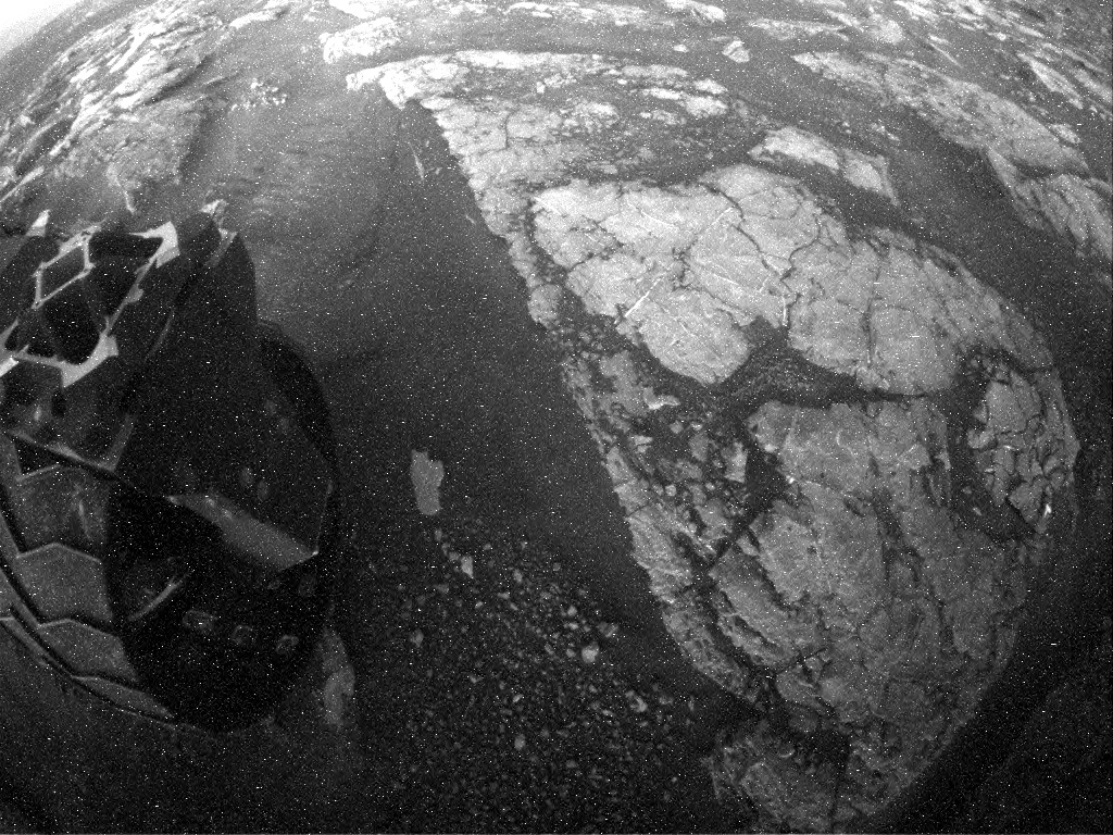 NASA's Mars rover Curiosity acquired this image using its Rear Hazard Avoidance Cameras (Rear Hazcams) on Sol 1560