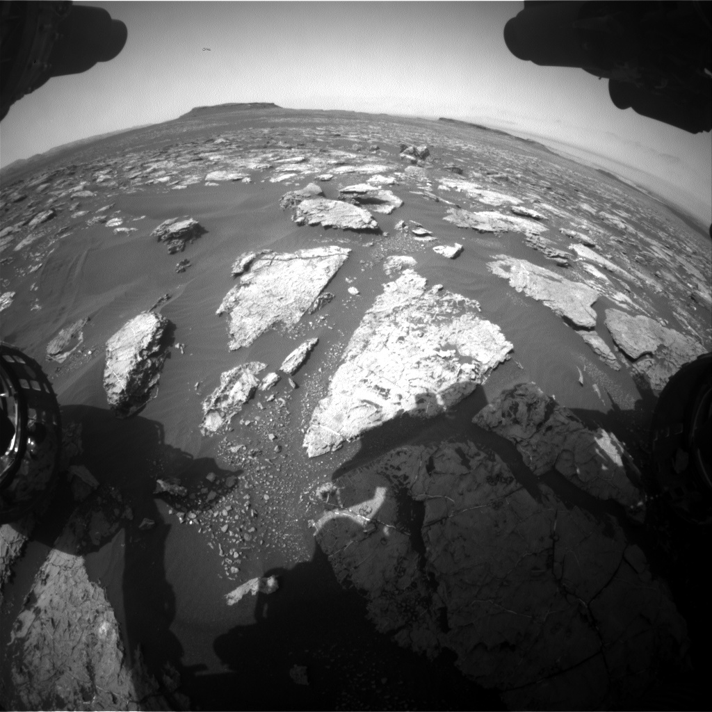 Nasa's Mars rover Curiosity acquired this image using its Front Hazard Avoidance Camera (Front Hazcam) on Sol 1561, at drive 3016, site number 59