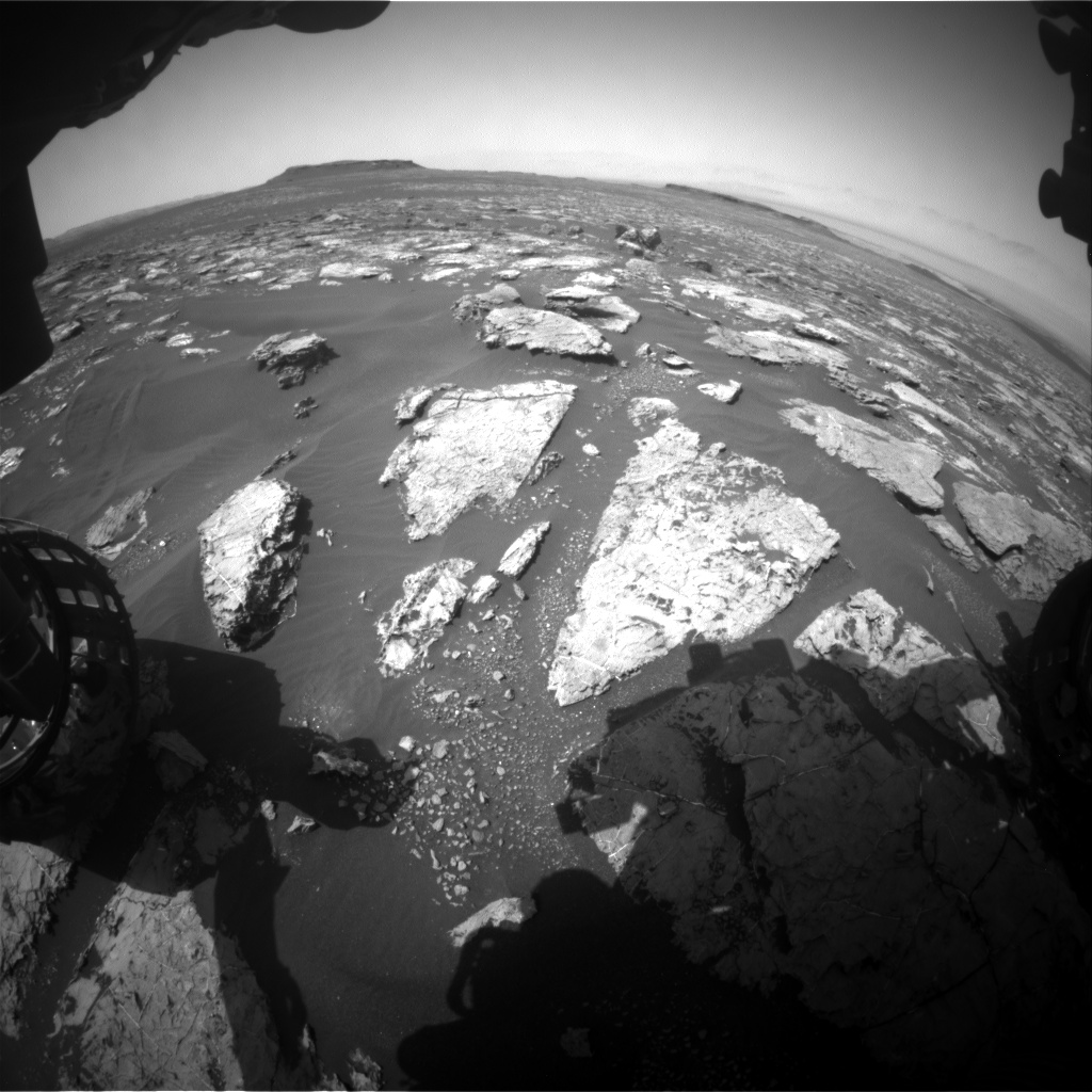 Nasa's Mars rover Curiosity acquired this image using its Front Hazard Avoidance Camera (Front Hazcam) on Sol 1562, at drive 3016, site number 59