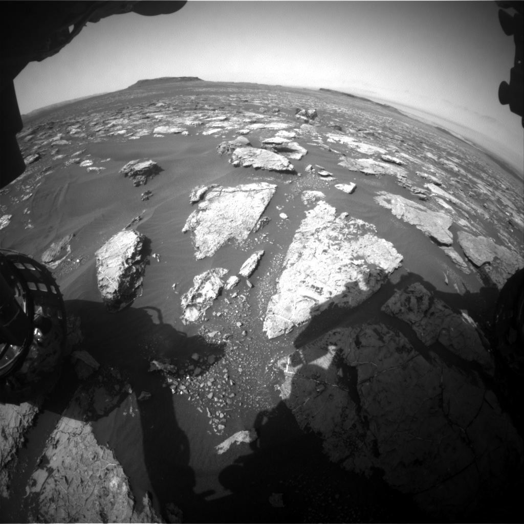 Nasa's Mars rover Curiosity acquired this image using its Front Hazard Avoidance Camera (Front Hazcam) on Sol 1563, at drive 3016, site number 59