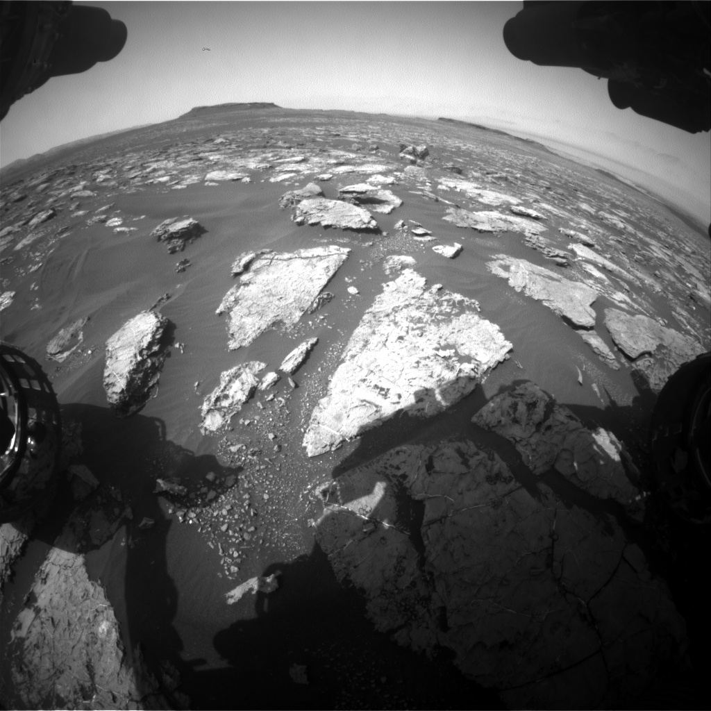 Nasa's Mars rover Curiosity acquired this image using its Front Hazard Avoidance Camera (Front Hazcam) on Sol 1565, at drive 3016, site number 59