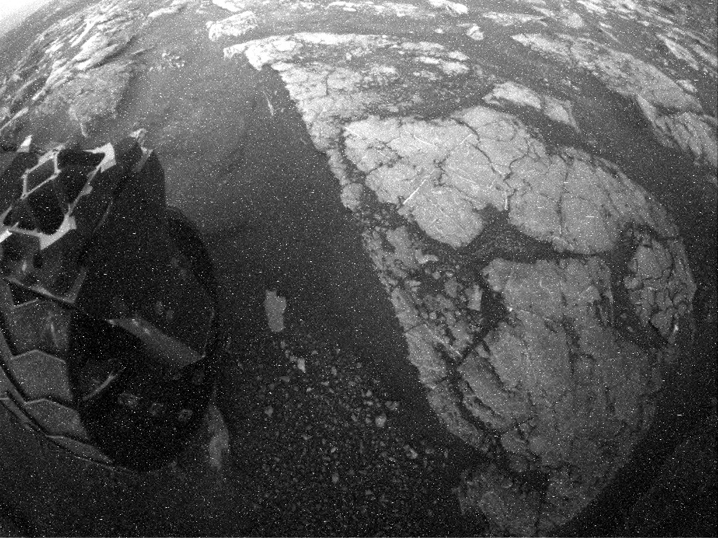 NASA's Mars rover Curiosity acquired this image using its Rear Hazard Avoidance Cameras (Rear Hazcams) on Sol 1565