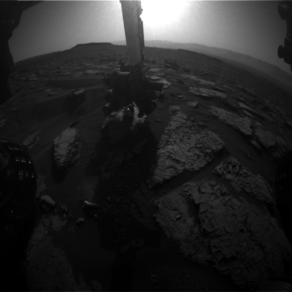 NASA's Mars rover Curiosity acquired this image using its Front Hazard Avoidance Cameras (Front Hazcams) on Sol 1566