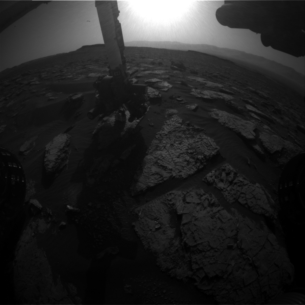Nasa's Mars rover Curiosity acquired this image using its Front Hazard Avoidance Camera (Front Hazcam) on Sol 1566, at drive 3016, site number 59