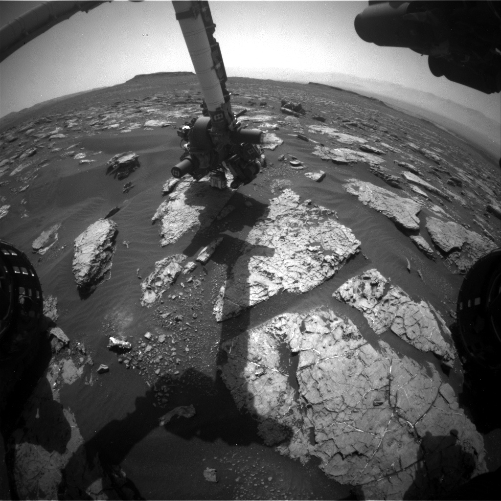 Nasa's Mars rover Curiosity acquired this image using its Front Hazard Avoidance Camera (Front Hazcam) on Sol 1567, at drive 3016, site number 59