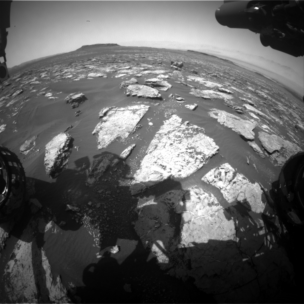 Nasa's Mars rover Curiosity acquired this image using its Front Hazard Avoidance Camera (Front Hazcam) on Sol 1568, at drive 3016, site number 59