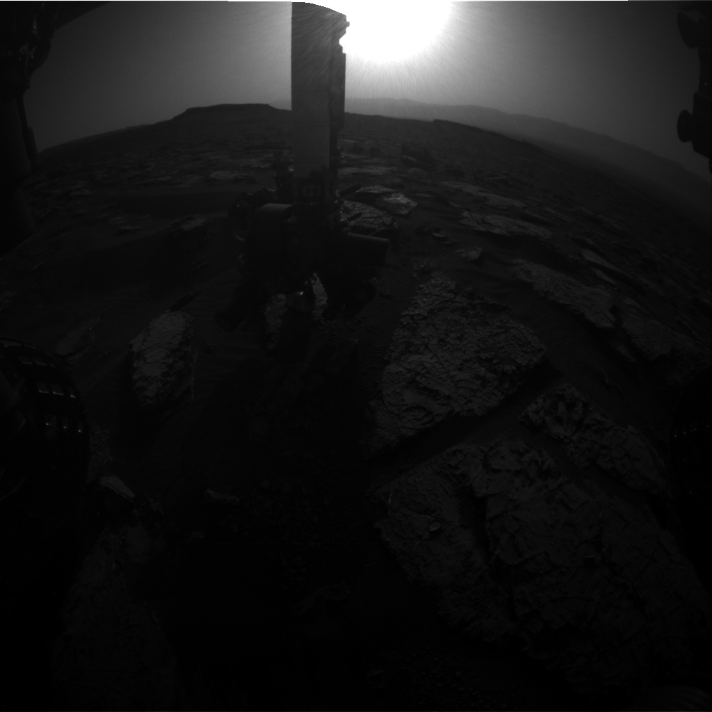 Nasa's Mars rover Curiosity acquired this image using its Front Hazard Avoidance Camera (Front Hazcam) on Sol 1569, at drive 3016, site number 59
