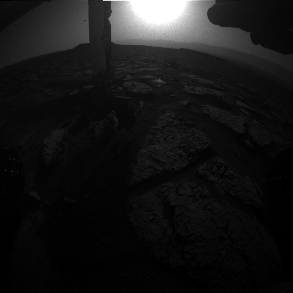 NASA's Mars rover Curiosity acquired this image using its Front Hazard Avoidance Cameras (Front Hazcams) on Sol 1569