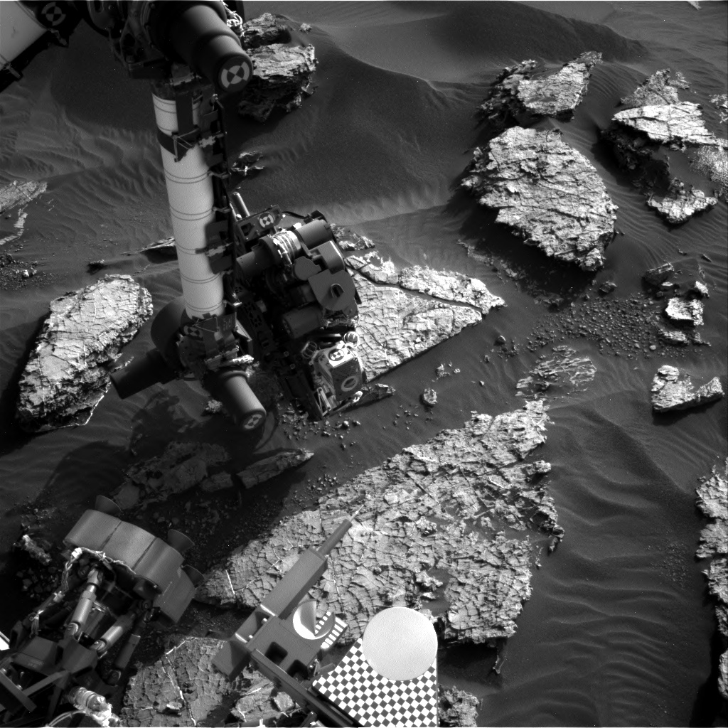 Nasa's Mars rover Curiosity acquired this image using its Right Navigation Camera on Sol 1569, at drive 3016, site number 59