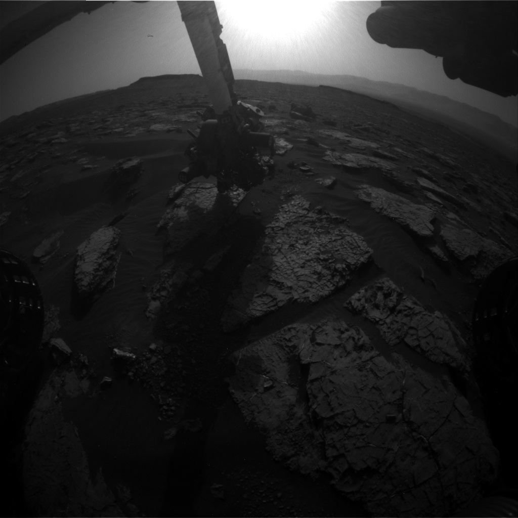 Nasa's Mars rover Curiosity acquired this image using its Front Hazard Avoidance Camera (Front Hazcam) on Sol 1570, at drive 3016, site number 59