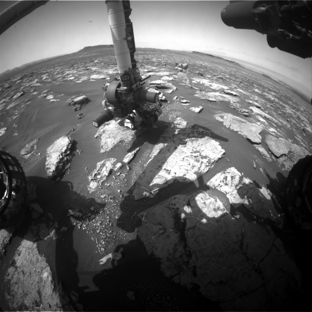 Nasa's Mars rover Curiosity acquired this image using its Front Hazard Avoidance Camera (Front Hazcam) on Sol 1571, at drive 3016, site number 59
