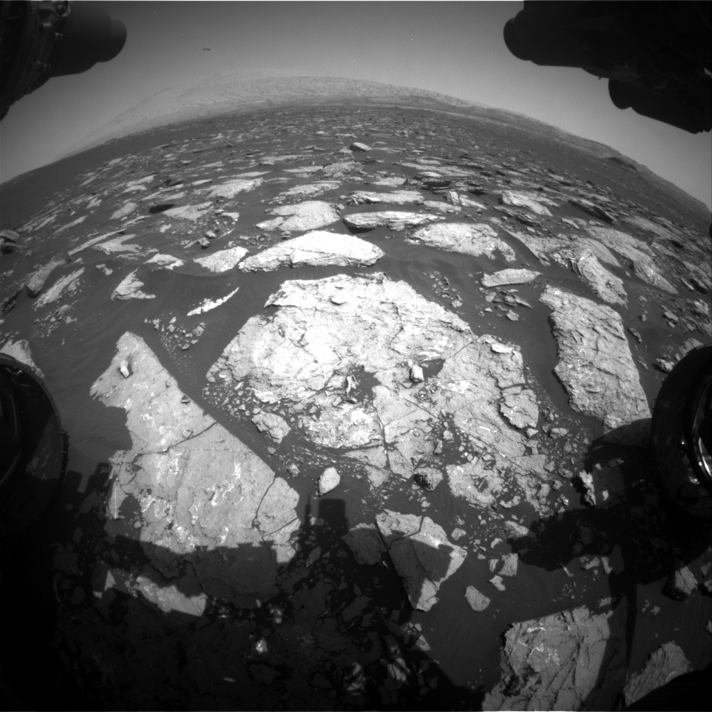 Nasa's Mars rover Curiosity acquired this image using its Front Hazard Avoidance Camera (Front Hazcam) on Sol 1571, at drive 0, site number 60