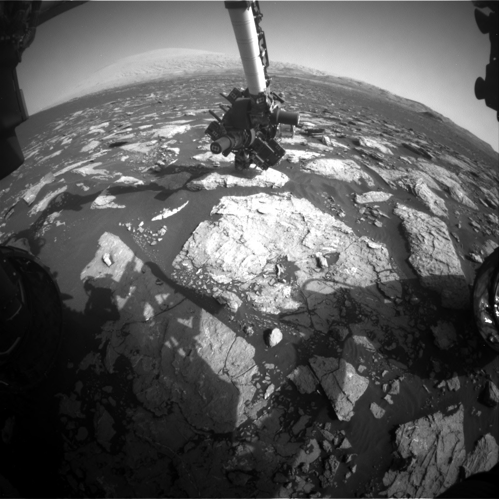 Nasa's Mars rover Curiosity acquired this image using its Front Hazard Avoidance Camera (Front Hazcam) on Sol 1572, at drive 0, site number 60