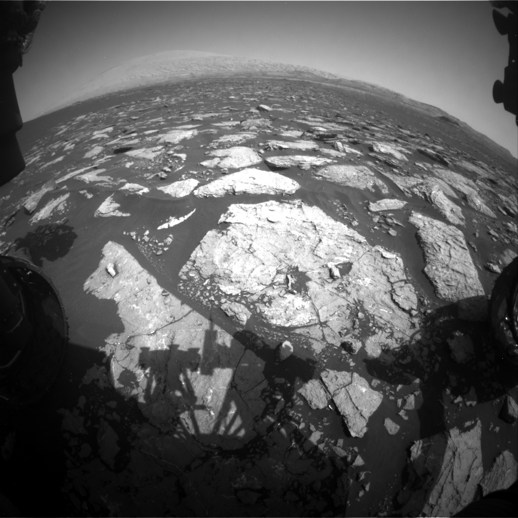 Nasa's Mars rover Curiosity acquired this image using its Front Hazard Avoidance Camera (Front Hazcam) on Sol 1573, at drive 0, site number 60