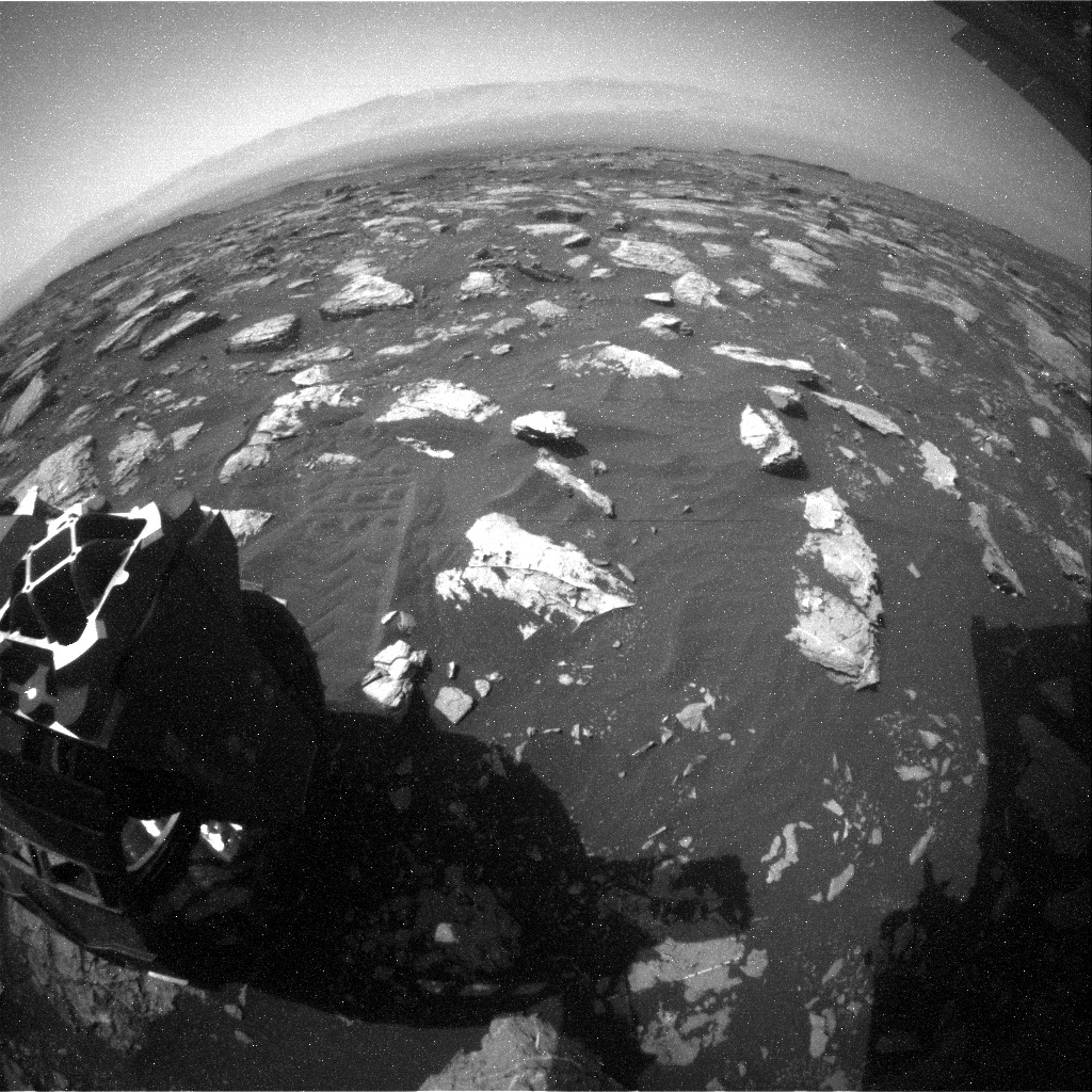 NASA's Mars rover Curiosity acquired this image using its Rear Hazard Avoidance Cameras (Rear Hazcams) on Sol 1573