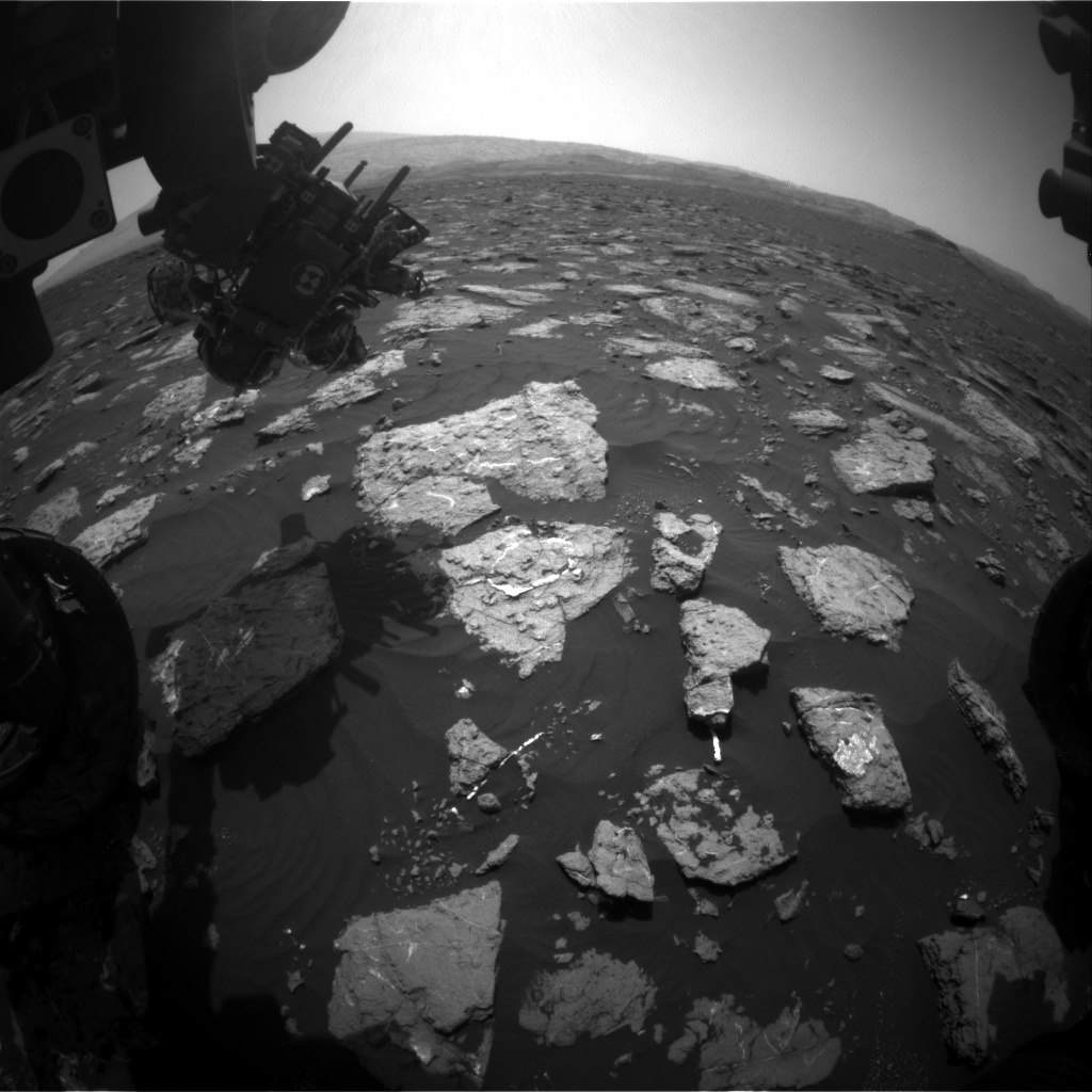Nasa's Mars rover Curiosity acquired this image using its Front Hazard Avoidance Camera (Front Hazcam) on Sol 1576, at drive 180, site number 60