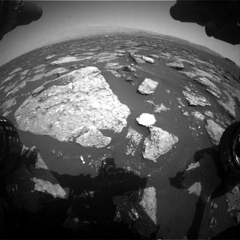 Nasa's Mars rover Curiosity acquired this image using its Front Hazard Avoidance Camera (Front Hazcam) on Sol 1576, at drive 396, site number 60