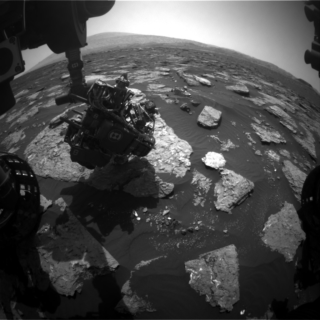NASA's Mars rover Curiosity acquired this image using its Front Hazard Avoidance Cameras (Front Hazcams) on Sol 1577