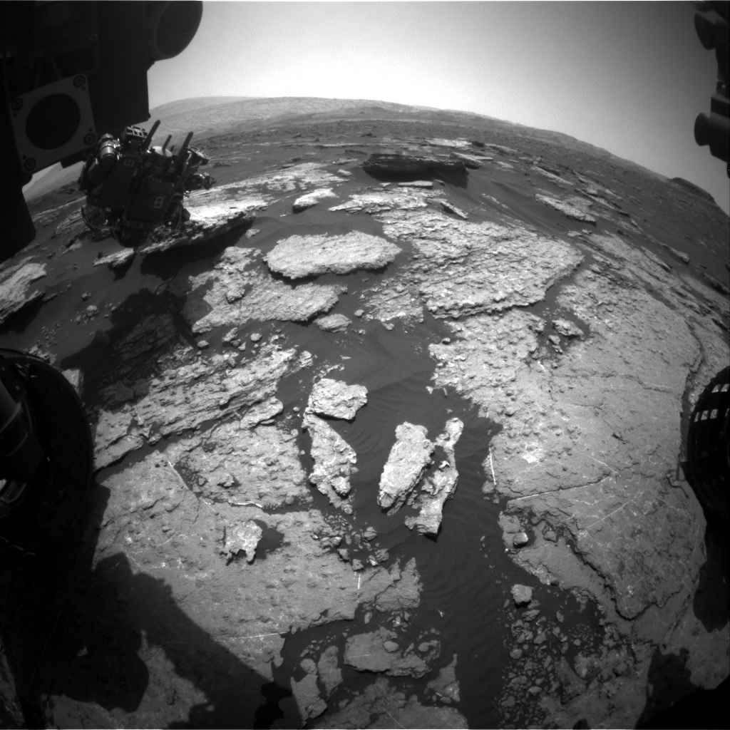 NASA's Mars rover Curiosity acquired this image using its Front Hazard Avoidance Cameras (Front Hazcams) on Sol 1578