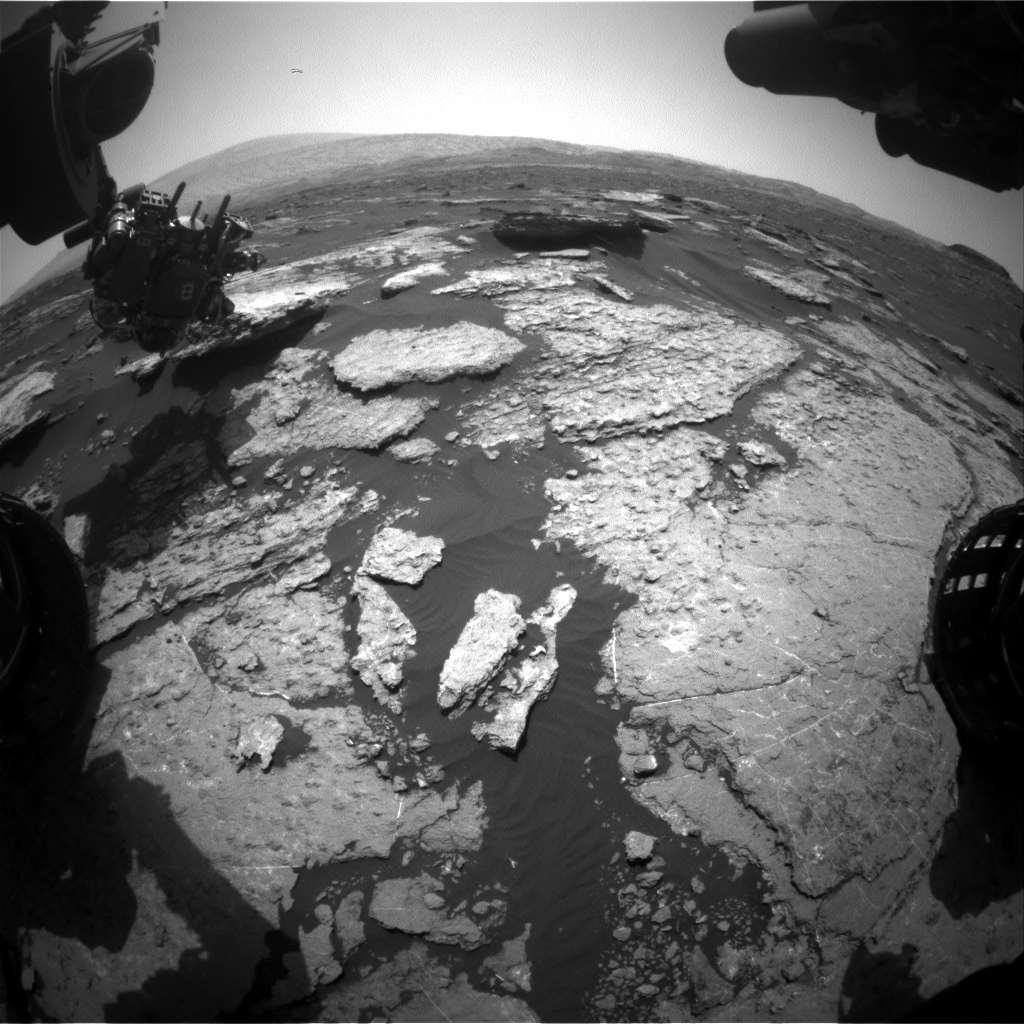 Nasa's Mars rover Curiosity acquired this image using its Front Hazard Avoidance Camera (Front Hazcam) on Sol 1578, at drive 684, site number 60
