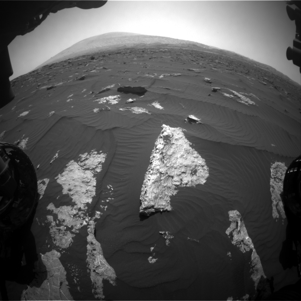 Nasa's Mars rover Curiosity acquired this image using its Front Hazard Avoidance Camera (Front Hazcam) on Sol 1580, at drive 888, site number 60