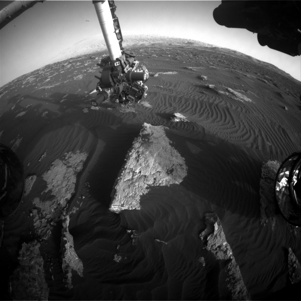 Nasa's Mars rover Curiosity acquired this image using its Front Hazard Avoidance Camera (Front Hazcam) on Sol 1581, at drive 888, site number 60