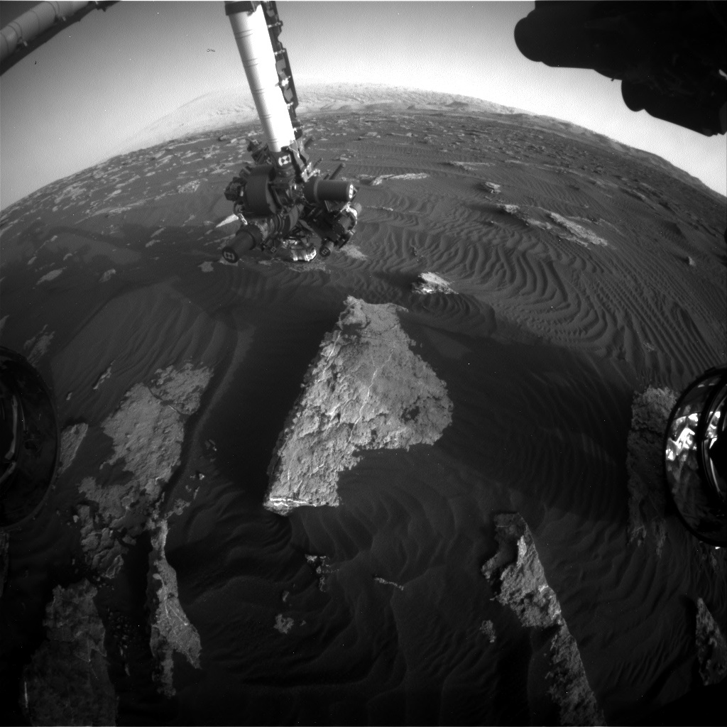 NASA's Mars rover Curiosity acquired this image using its Front Hazard Avoidance Cameras (Front Hazcams) on Sol 1581