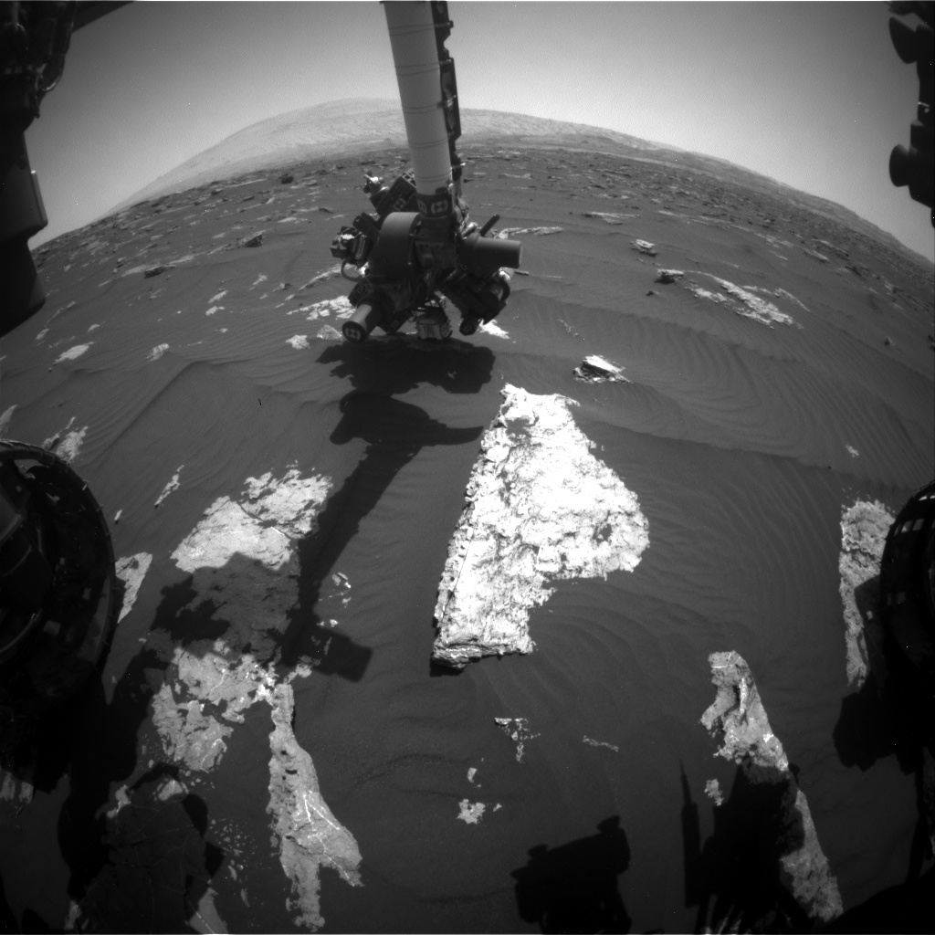 NASA's Mars rover Curiosity acquired this image using its Front Hazard Avoidance Cameras (Front Hazcams) on Sol 1582