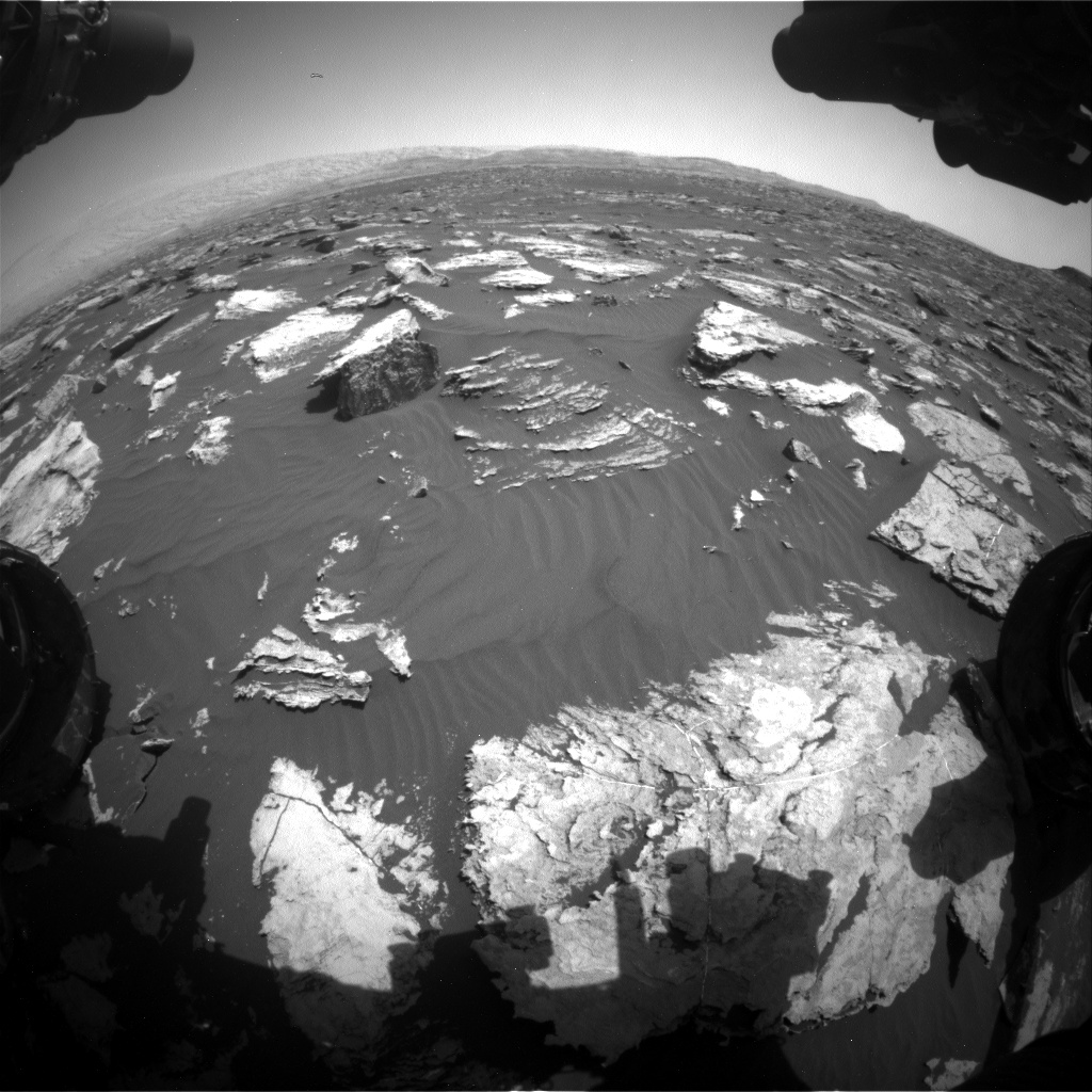 Nasa's Mars rover Curiosity acquired this image using its Front Hazard Avoidance Camera (Front Hazcam) on Sol 1582, at drive 1266, site number 60