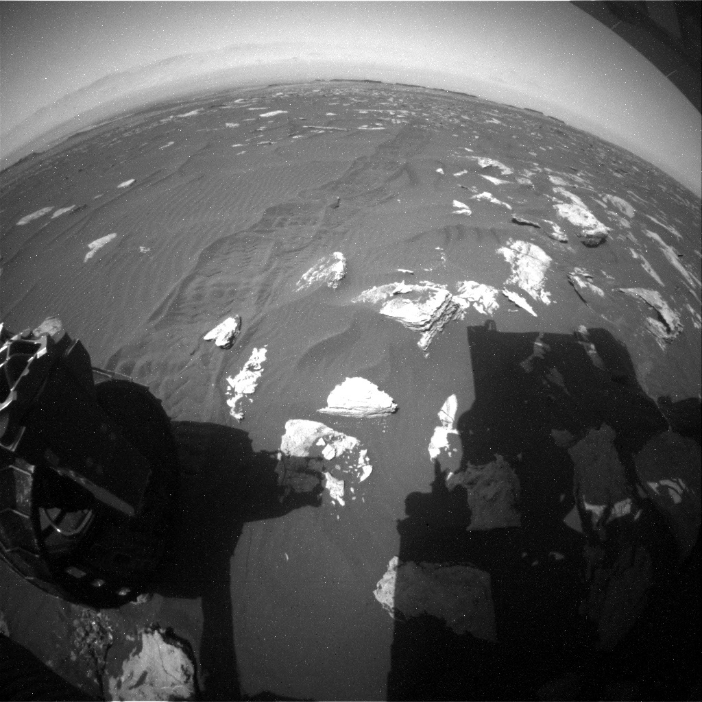 NASA's Mars rover Curiosity acquired this image using its Rear Hazard Avoidance Cameras (Rear Hazcams) on Sol 1582