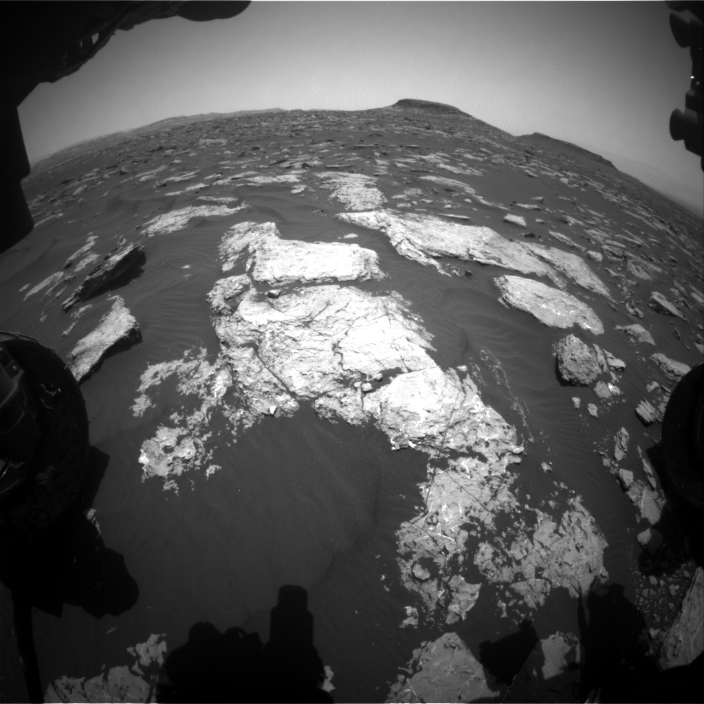 Nasa's Mars rover Curiosity acquired this image using its Front Hazard Avoidance Camera (Front Hazcam) on Sol 1583, at drive 1422, site number 60