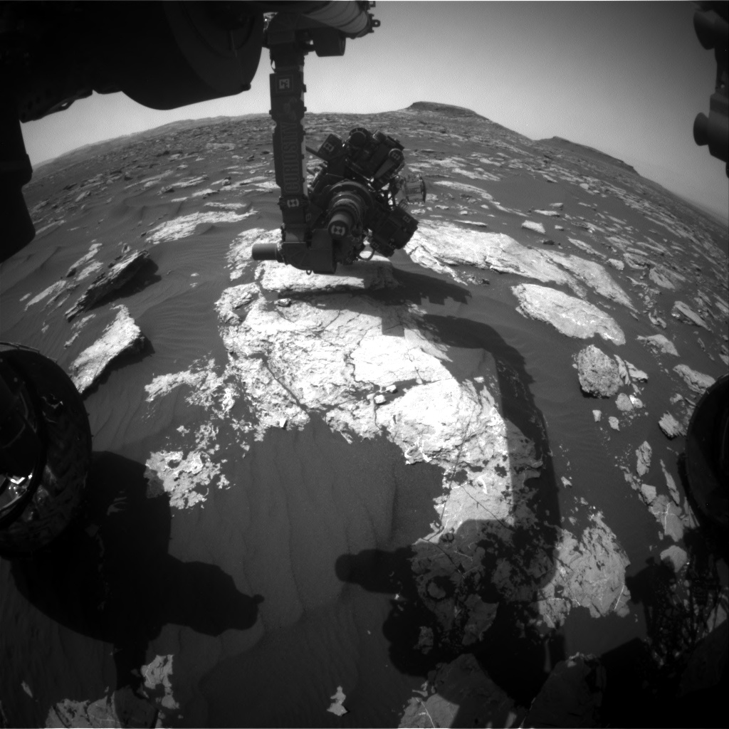 Nasa's Mars rover Curiosity acquired this image using its Front Hazard Avoidance Camera (Front Hazcam) on Sol 1584, at drive 1422, site number 60