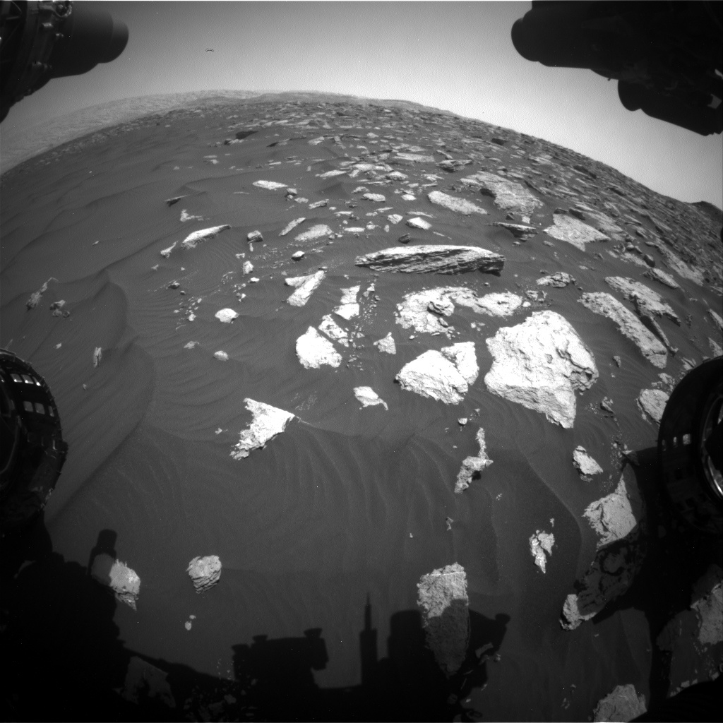 Nasa's Mars rover Curiosity acquired this image using its Front Hazard Avoidance Camera (Front Hazcam) on Sol 1584, at drive 1650, site number 60