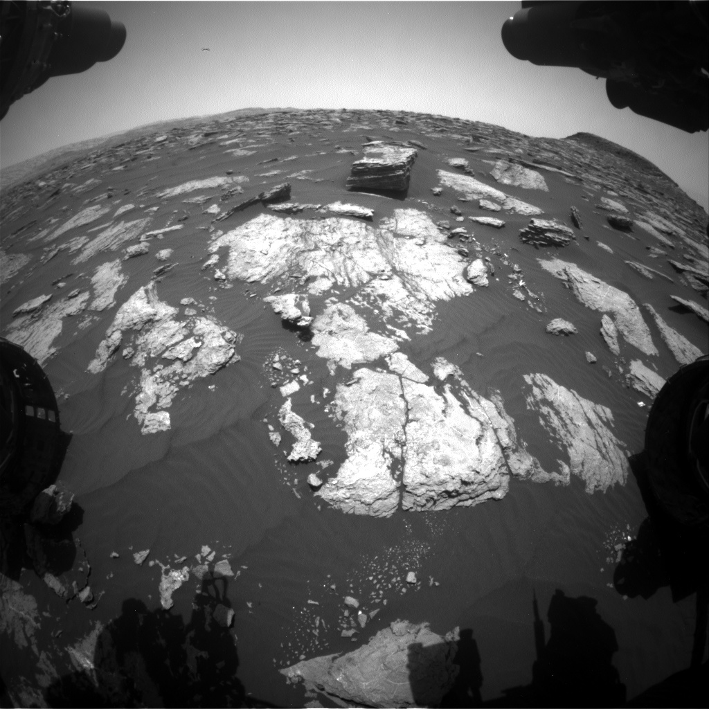 Nasa's Mars rover Curiosity acquired this image using its Front Hazard Avoidance Camera (Front Hazcam) on Sol 1585, at drive 1752, site number 60