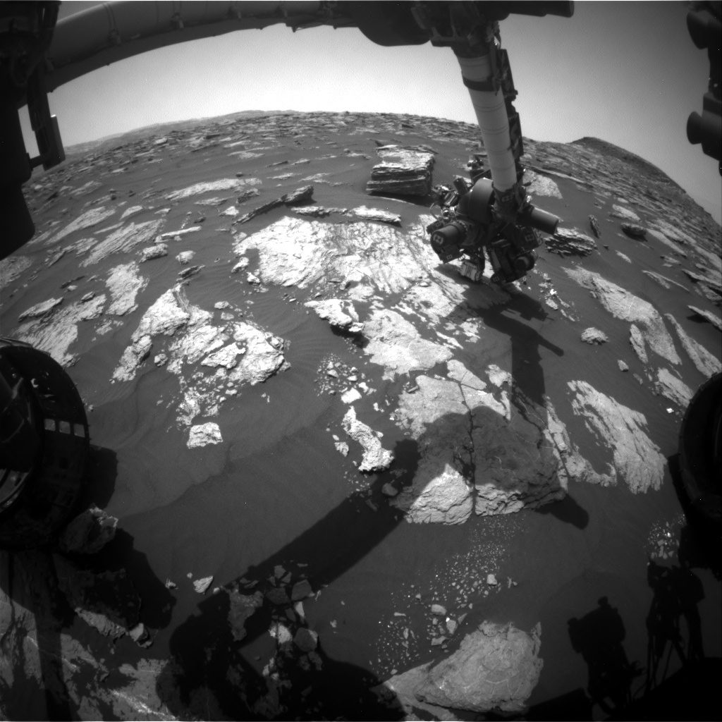 Nasa's Mars rover Curiosity acquired this image using its Front Hazard Avoidance Camera (Front Hazcam) on Sol 1587, at drive 1752, site number 60