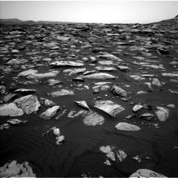 NASA's Mars rover Curiosity acquired this image using its Left Navigation Camera (Navcams) on Sol 1587