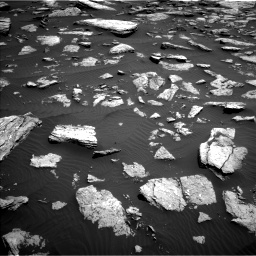 Nasa's Mars rover Curiosity acquired this image using its Left Navigation Camera on Sol 1587, at drive 1950, site number 60