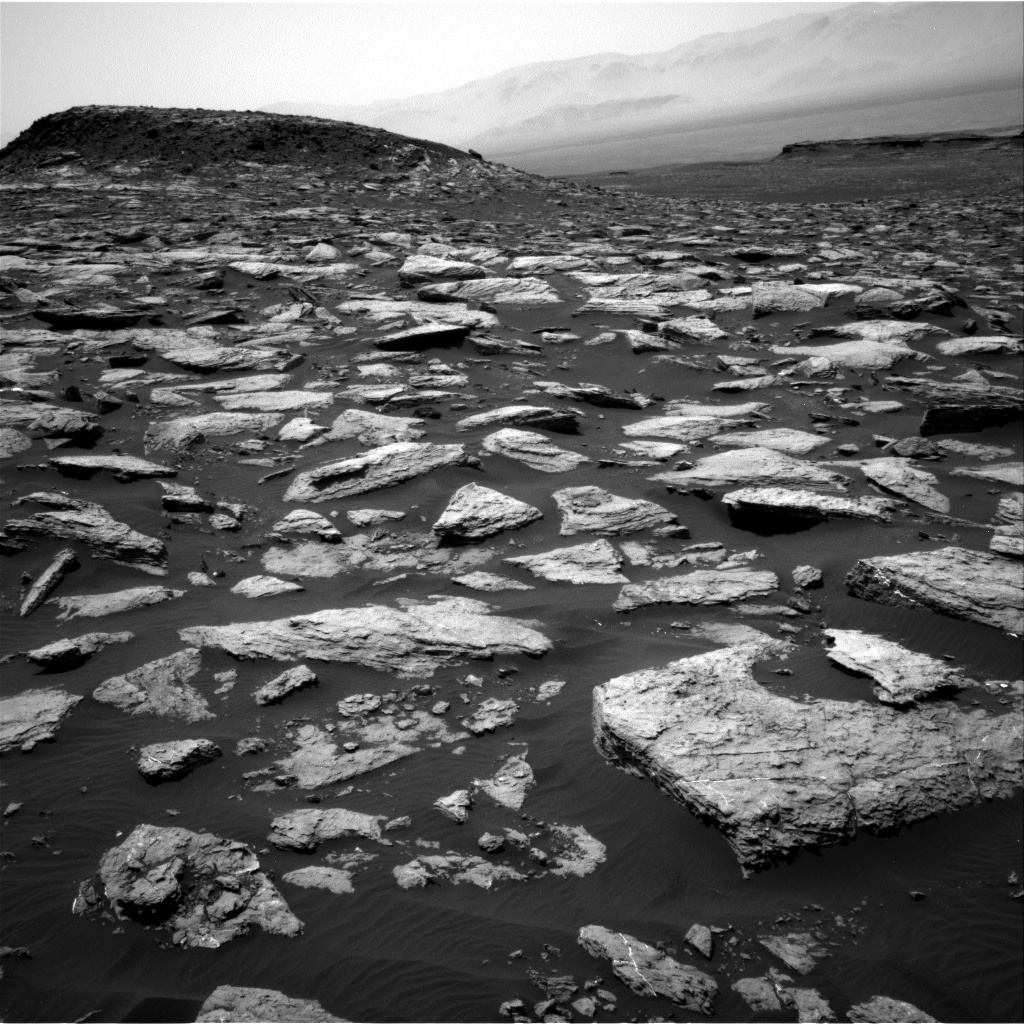 NASA's Mars rover Curiosity acquired this image using its Right Navigation Cameras (Navcams) on Sol 1587