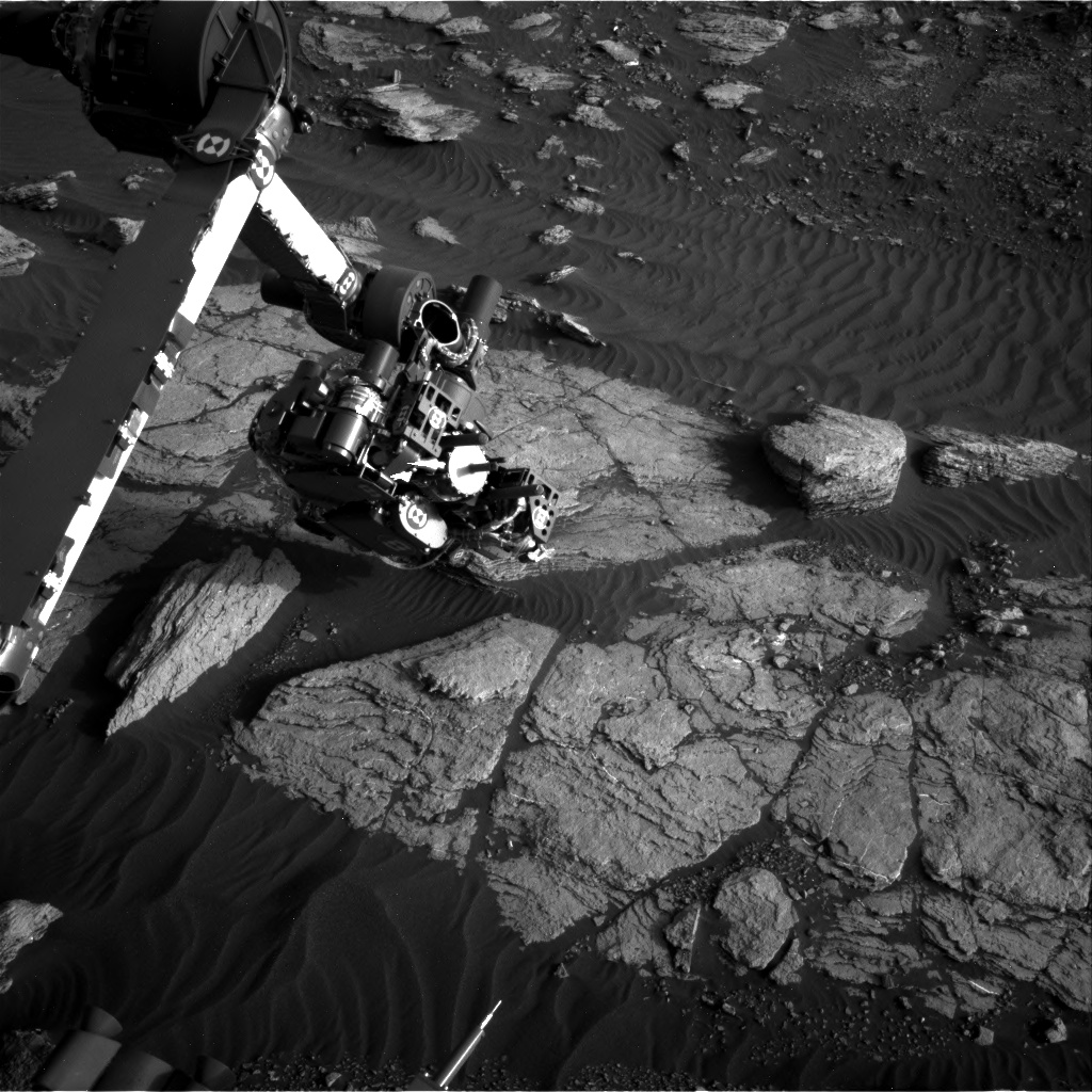 Nasa's Mars rover Curiosity acquired this image using its Right Navigation Camera on Sol 1593, at drive 2346, site number 60